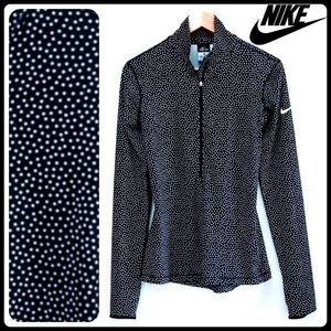Nike Pro Dri-Fit polka dot half-zip pullover